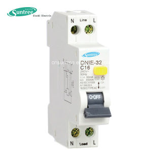Single Pole Circuit Breaker 4.5ka 30mA 1p+N 1 Pole RCBO pictures & photos