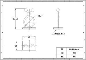 Self-Adhesive Cable Tie/Mounting Twist Tie pictures & photos
