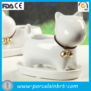 Lovely Cat Shape Table Ceramic Flower Planter Pot pictures & photos