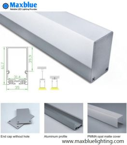 Hot Selling Aluminum Profile with Press-on Cover for LED Linear Lighting pictures & photos