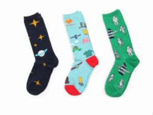 Custom Fashion Knee High Jacquard Cotton Sock pictures & photos