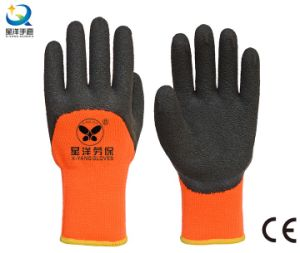 Terry Napping Lining Latex 3/4 Coated Safety Work Gloves pictures & photos