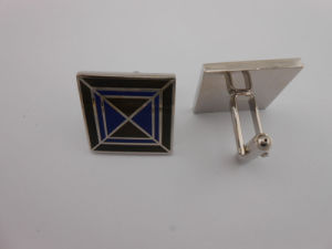Square Custom Metal Cufflinks Enamel Cufflink (GZHY-XK-014) pictures & photos