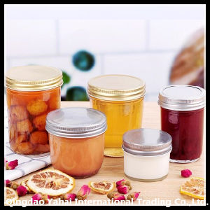 Set Clear Glass Straight Jar for Fruit Jam Storage pictures & photos