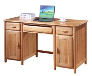 Solid Wood Oak Computer Desk-Antique Colour