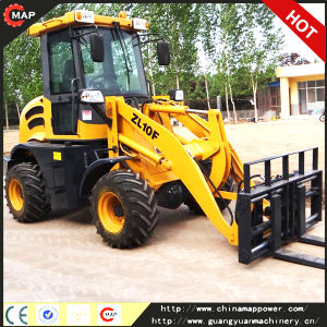 Pallet Front Loader Fork 1.0ton Wheel Mini Loader pictures & photos