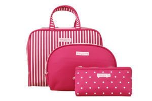 Hot-Sales Pink Canvas Cosmetic Bag pictures & photos