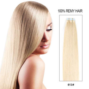 Wholesale Tape Hair Grade 8A Double Sided Cheap Indian Virgin Tape Hair Extensions pictures & photos