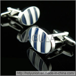 VAGULA Cuff Links Luxury Blue Stripe Cufflinks (Hlk31733) pictures & photos