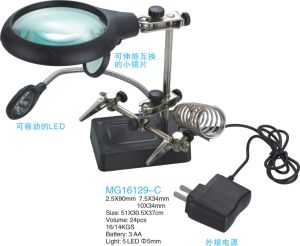 7.5X34mm/2.5X90mm /10X34mm Auxiliary Clip Magnifier with Moveable LED pictures & photos