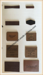 Synthetic Leather Jean Label (JL009) pictures & photos