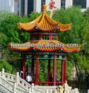 Different Types in Design Wooden Garden Chinese Style Asian Gazebos