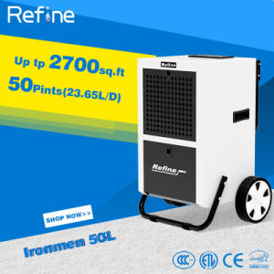 110ppd/50L Restoration Dehumidifier with Big Wheel