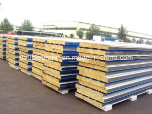 Fireproof Rock Wool Sandwich Wall and Roof Panel pictures & photos