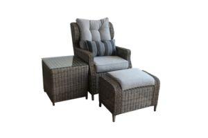 High Back Chair Rattan Furniture Ottoman Side Table &Rattan Chair