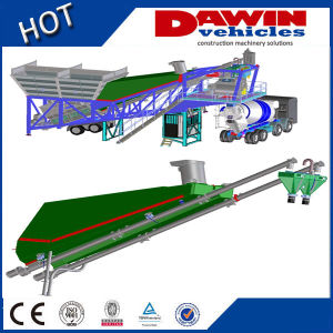 2015 New Design Stationary 90m3/Hour Container Concrete Batching Plant pictures & photos