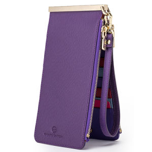 Fashion Genuine Leather Many Card Slots Ladies Wallet (Q77004) pictures & photos