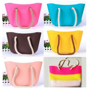 2015 Most fashion Jelly Color Beach Bag Silicone
