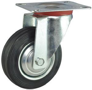 Industrial Swivel Rubber Caster for Trolley (EC-A-75-IDB)