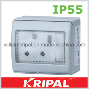 IP55 15A Round Pin Waterproof Outlet pictures & photos