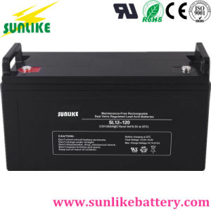 Best Manufacturer 12V120ah Rechargeable Solar Power Lead-Acid Battery for UPS pictures & photos