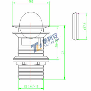 Sanitary Ware Flip Top Lavatory Drain (T1030) pictures & photos