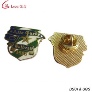 Enamel Logo Gold Metal Lapel Pins (LM1757) pictures & photos