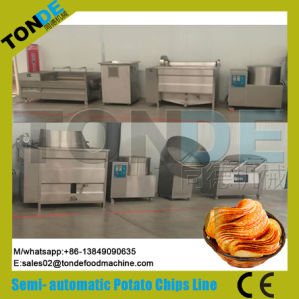 100/200/300/400kg/H Automatic Stainless Steel Wavy Potato Crisps Making Machine pictures & photos