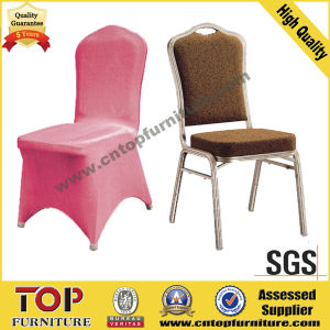 Metal Wedding Stacking Banquet Chair with Chaircover pictures & photos
