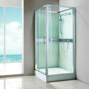High Quality Square Acrylic Tray Simple Bath Shower Cabin (SR9I012) pictures & photos