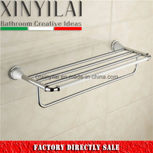 Chrome & Paint Brass Towel Shelf with Bar for Bathroom Wares pictures & photos