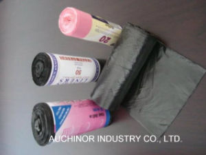 Hot Sale Custom Printed Plastic Garbage Bag on Roll pictures & photos
