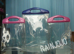 Round Handle Super Clear PVC Shopping Bag pictures & photos