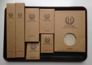 Hotel Amenities Set - Kraft Box Wrapper pictures & photos