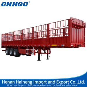 3 Axles High Strength Steel Stake Fence Semi Trailer pictures & photos
