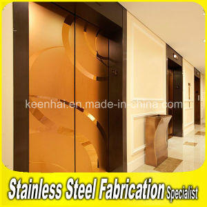 Decorative Stainless Steel Elevator Door for Apartments pictures & photos