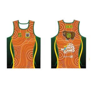Custom Artwork Design Singlets Running Sports Vest for Runner pictures & photos