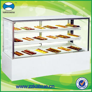 Rectangular Bakery Equipment Cake Display Case