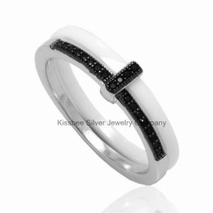 Fashion Jewellery Ceramic Silver Ring Wholesale Jewelry (R20035) pictures & photos