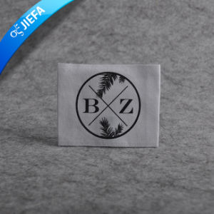White Background Custom Garment Damask Woven Main Label pictures & photos
