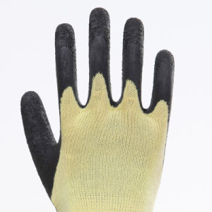 Latex Thumb Fully Coated Safety Gloves pictures & photos