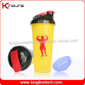 700ml Plastic Protein Shaker Bottle with Filter (KL-7020) pictures & photos