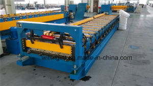 Color Coated Steel Tile Post Cuttting Roll Forming Machine pictures & photos
