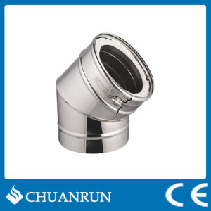 15/30/45 Degree Double Wall Elbow Pipe for Pellet Stoves pictures & photos