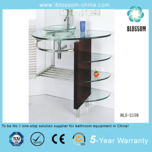 Tempered Glass Bathroom Vanity (BLS-2159) pictures & photos