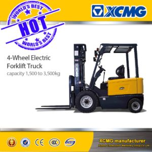 XCMG Official 1.5-3.5ton AC 4-Wheel Powered Electric Forklift Truck pictures & photos