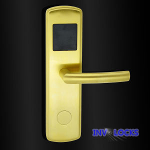Stainless Steel Hotel Door Lock (RF-INV600C-PB) pictures & photos