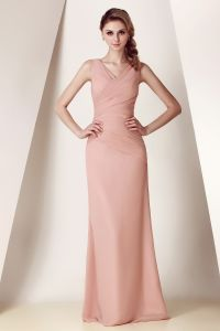 80% on Sexy Sheath/Column off-The-Shoulder Floor Length Fold Chiffon Evening Dresses