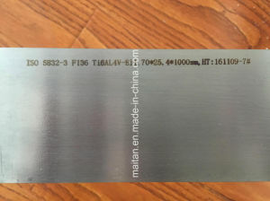 The Best Price for ISO 5832-2 Ti6al4V Eli Medical Titanium Bar pictures & photos