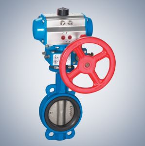 Pneumatic Butterfly Valve with Actuator (HL) pictures & photos